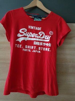 SUPERDRY T-Shirt ROT Gr. L