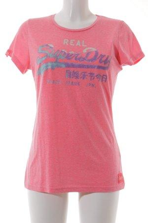 Superdry T-Shirt Schriftzug gedruckt Glitzer-Optik
