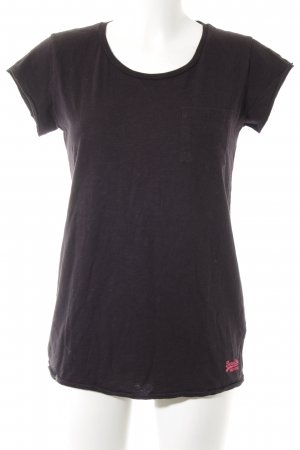 Superdry T-Shirt schwarz Casual-Look
