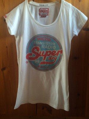Superdry T-Shirt Weiß XS