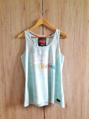 Superdry Tank Top baby blue-white