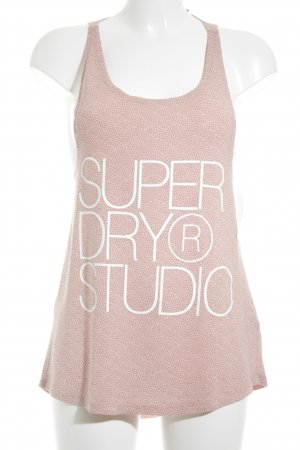 Superdry Tanktop altrosa-rosé grafisches Muster Casual-Look
