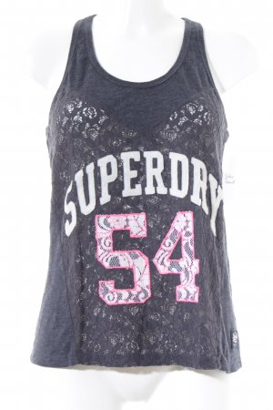 Superdry Tanktop blau Casual-Look