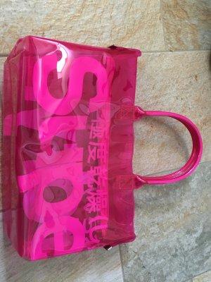 Superdry Tasche durchsichtig pink