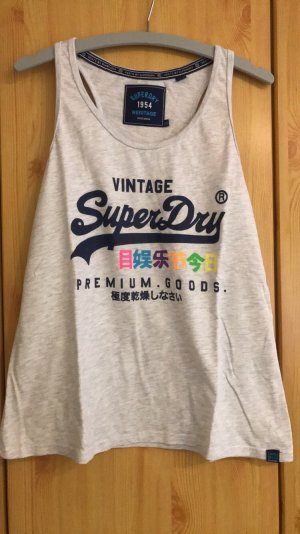 Superdry Off the shoulder top donkerblauw-lichtgrijs