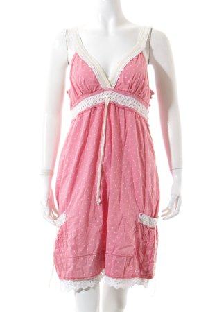 Superdry Trägerkleid wollweiß-rosa Punktemuster Romantik-Look