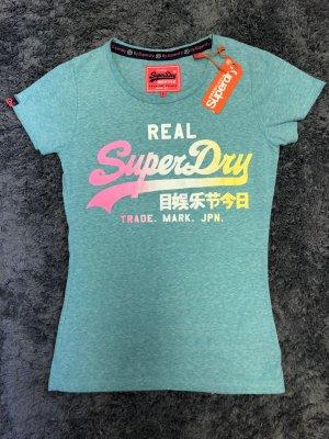 Superdry Camiseta estampada menta-turquesa