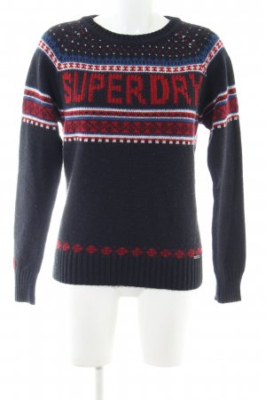 Superdry Christmasjumper printed lettering casual look