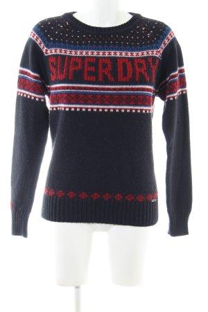 Superdry Weihnachtspullover Schriftzug gedruckt Casual-Look
