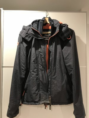 Superdry Windbreaker dark grey-apricot
