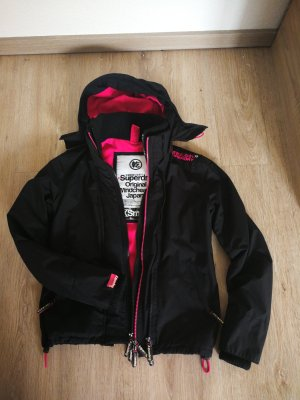 Superdry Windstop Jacke schwarz pink Gr. XS
