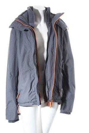 Superdry Windstopper grau-orange sportlicher Stil