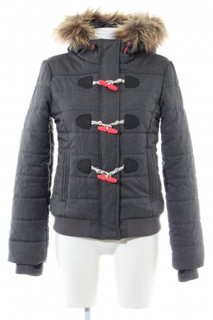Superdry Winterjacke hellgrau Steppmuster Casual-Look