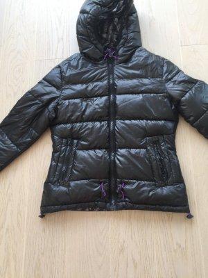 SuperDry Winterjacke in schwarz