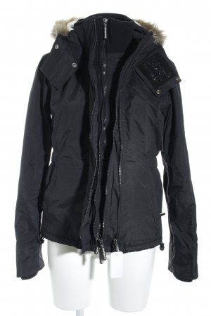 Superdry Winterjacke schwarz Casual-Look