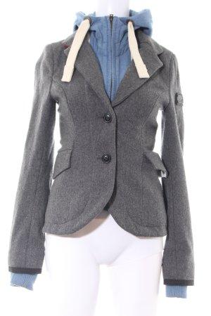 Superdry Chaqueta de lana gris claro-azul estilo «business»