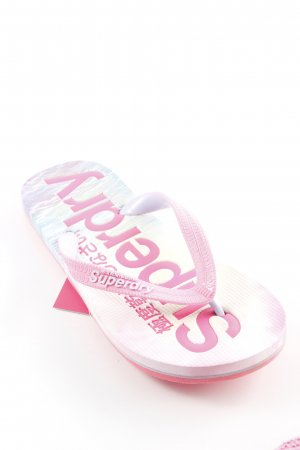 Superdry Toe-Post sandals themed print extravagant style