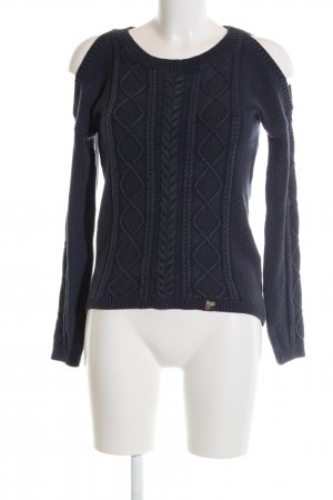 Superdry Cable Sweater blue cable stitch casual look