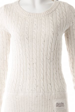 Superdry Cable Sweater white-beige