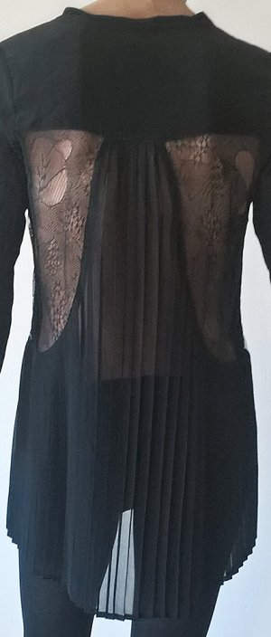 Rich & Royal Blusa de seda negro Seda