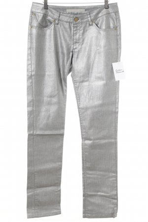 Superfine Boot Cut Jeans silberfarben Glanz-Optik