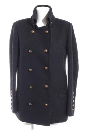 Superfine Wollen jas zwart simpele stijl