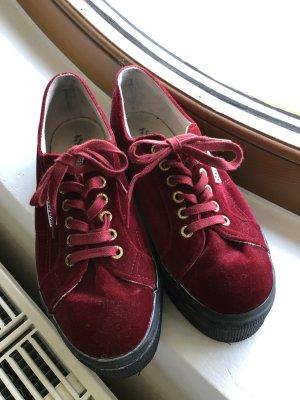 Superga Heel Sneakers black-dark red