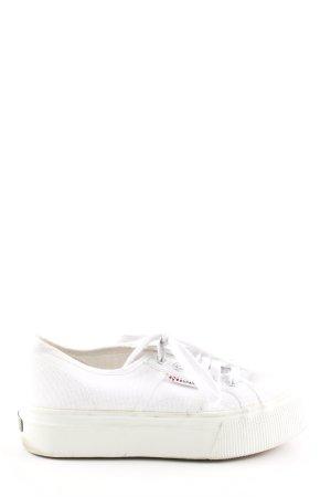 Superga Absatz Sneaker weiß sportlicher Stil