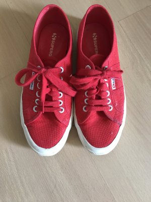 Superga Canvas Leinen Schuhe Sneaker Schnürschuhe