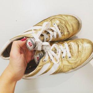 Superga Glitzer Sneaker in Gold & Weiß
