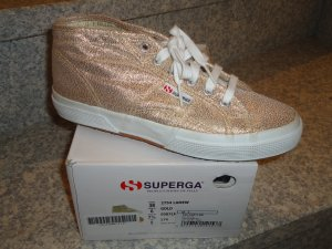 SUPERGA high Sneaker Damen Blogger Gr. 38/39 Gold NEU