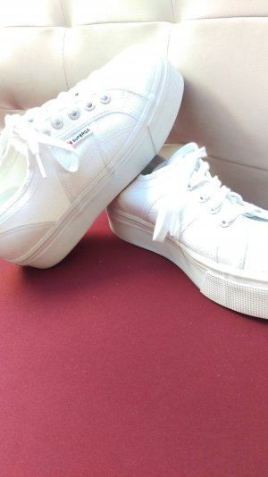 superga high sneaker white