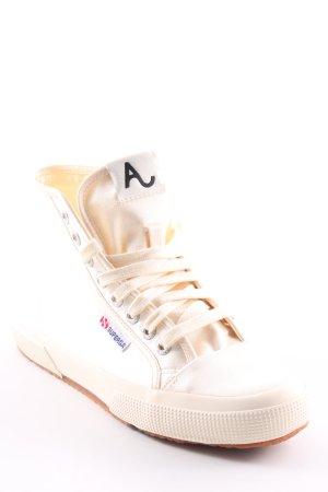 Superga High Top Sneaker creme Casual-Look
