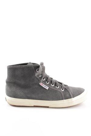 Superga High Top Sneaker grau Party-Look