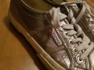 superga l sneaker silver