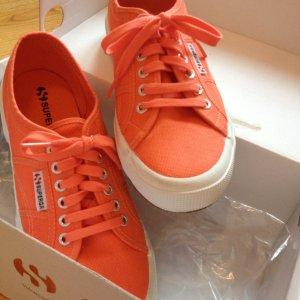 Superga neu Sneaker orange 41