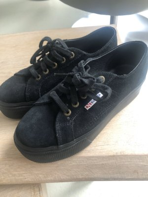 Superga Wedge Sneaker black leather