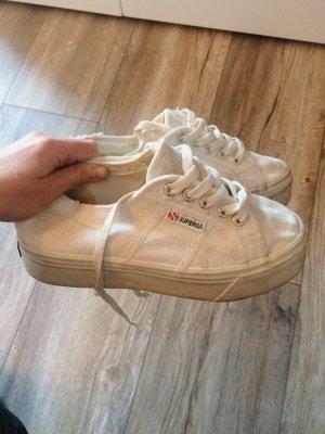 Superga Plateau Sneaker Leinen Größe 36