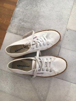 Superga Plateau Sneakers Gr 38 weiß