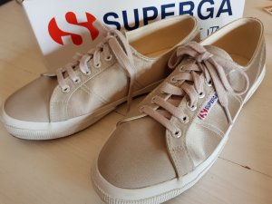 Superga Lace-Up Sneaker oatmeal cotton