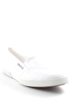 Superga Schlüpfschuhe weiß-wollweiß schlichter Stil