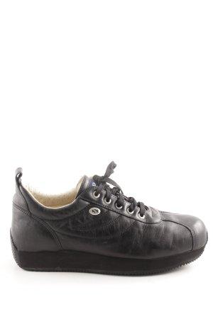 Superga Schnürschuhe schwarz sportlicher Stil
