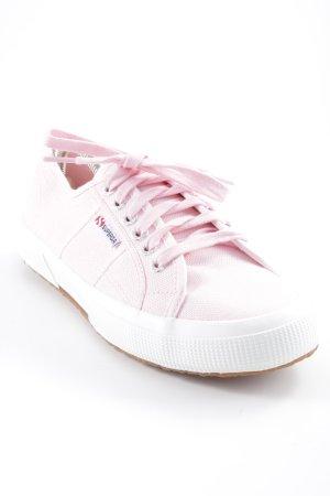 Superga Schnürschuhe rosa Casual-Look