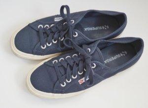 Superga Schnürschuhe Schuhe Sneaker dunkelblau blau marineblau Navy 39