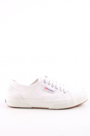 Superga Lace Shoes white-oatmeal weave pattern casual look