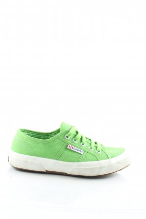 Superga Schnürsneaker grün sportlicher Stil