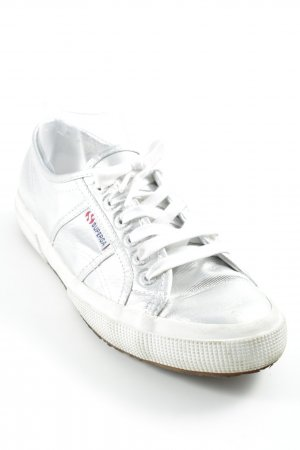 Superga Schnürsneaker silberfarben Metallic-Optik