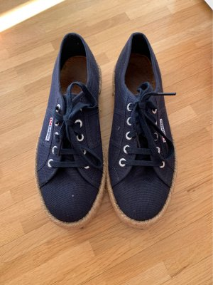 Superga Lace-Up Sneaker dark blue