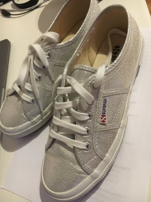 SUPERGA silberne sneakers