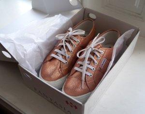 Superga Sneaker 2790 Lamew Rose gold Plateau Gr. 38